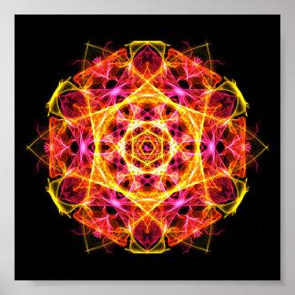 Kapha Dosha Balancing Ayurveda Mandala Poster