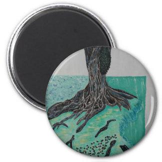 Kapok árbol 8 de marzo imán redondo 5 cm