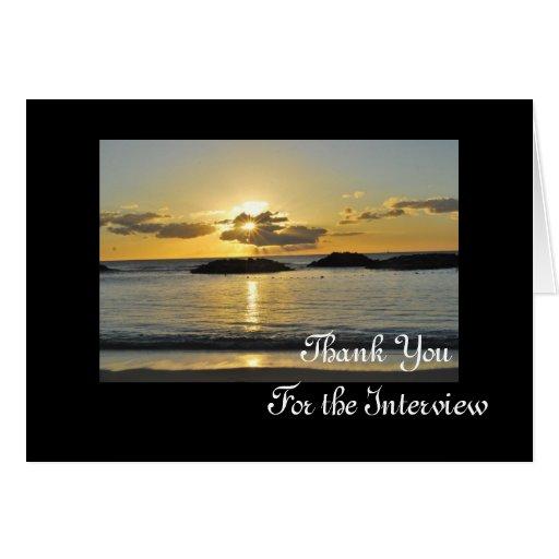 Kapolei Beach Interview Thank You Card