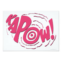 invitations, vintage, retro, kapow, batman, bat man, 1966 batman, 60's batman, batman action callout, action words, fighting sound effect words, punching sounds, adam west, burt ward, batman tv show, batman cartoon graphics, super hero, classic tv show, Invitation with custom graphic design