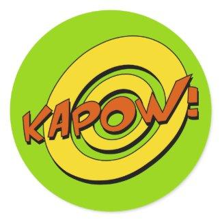 Kapow Comic Book Sticker sticker