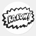 ¡Kapow! Pegatinas Etiquetas Redondas