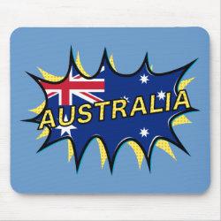 """""""Kapow"""" Starburst Australian flag"""