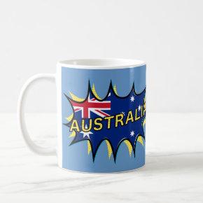 """Kapow"" Starburst Australian flag Coffee Mug"