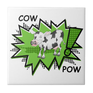 KAPOW Starburst cow Tile