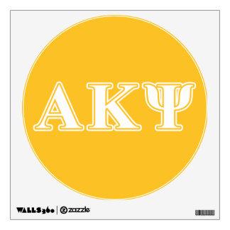 Kappa alfa letras blancas y amarillas de la PSI