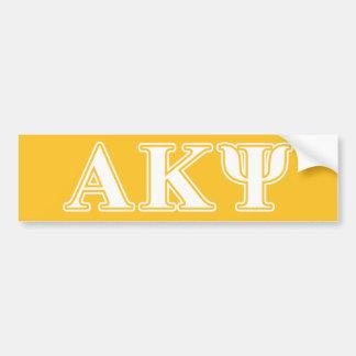 Kappa alfa letras blancas y amarillas de la PSI Etiqueta De Parachoque
