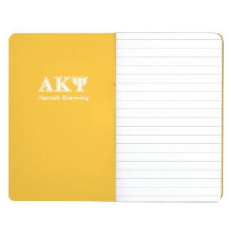 Kappa alfa letras blancas y amarillas de la PSI Cuaderno Grapado