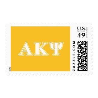 Kappa alfa letras blancas y amarillas de la PSI Envio