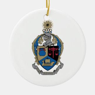 Kappa alfa PSI - escudo de armas Adorno Navideño Redondo De Cerámica