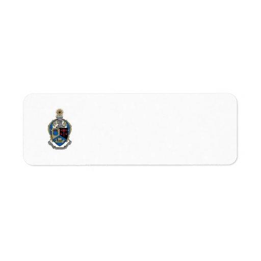 Kappa alfa PSI - escudo de armas Etiquetas De Remite