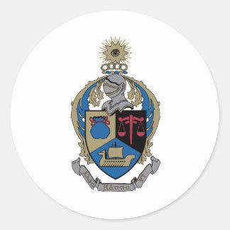 Kappa alfa PSI - escudo de armas Pegatina Redonda