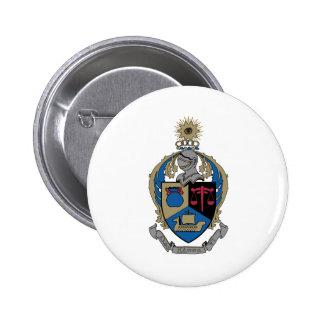 Kappa alfa PSI - escudo de armas Pin Redondo De 2 Pulgadas