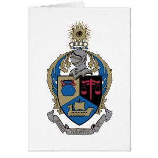 Kappa alfa PSI - escudo de armas Tarjeta De Felicitación