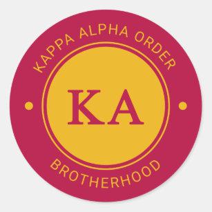 Kappa Alpha Order   Badge Classic Round Sticker