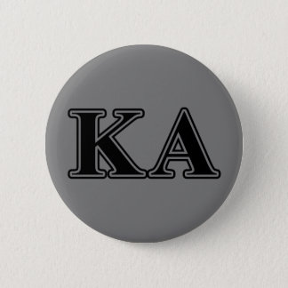 Kappa Alpha Order Black Letters Button