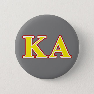 Kappa Alpha Order Red and Yellow Letters Pinback Button