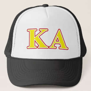 b5e17dfe Kappa Alpha Order Red and Yellow Letters Trucker Hat