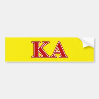 Kappa Alpha Order Red Letters Car Bumper Sticker