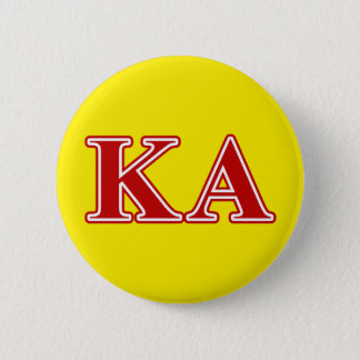 Kappa Alpha Order Red Letters Pinback Button