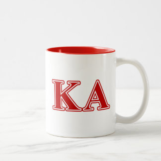 Kappa Alpha Order Red Letters Two-Tone Coffee Mug