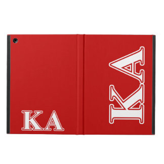Kappa Alpha Order White and Red Letters iPad Air Cover
