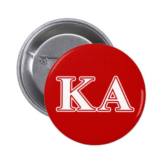 Kappa Alpha Order White and Red Letters Pinback Button