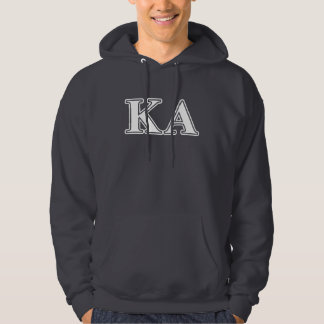 Kappa Alpha Order White and Yellow Letters Hoodie