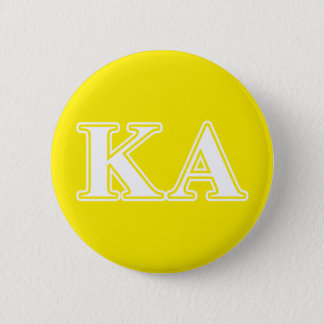 Kappa Alpha Order White and Yellow Letters Pinback Button