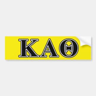 Kappa Alpha Theta Black Letters Bumper Sticker