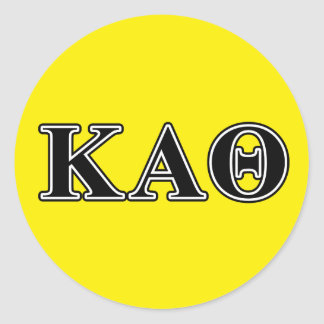 Kappa Alpha Theta Black Letters Classic Round Sticker