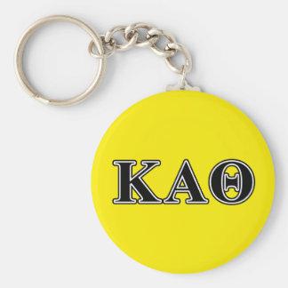 kappa alpha theta black letters keychain