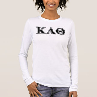 Kappa Alpha Theta Black Letters Long Sleeve T-Shirt