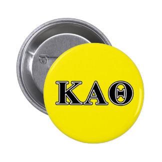 Kappa Alpha Theta Black Letters Pinback Button