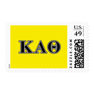 Kappa Alpha Theta Black Letters Postage Stamp