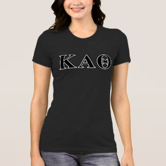 Kappa Alpha Theta Black Letters T-Shirt