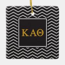 Kappa Alpha Theta | Chevron Pattern Ceramic Ornament