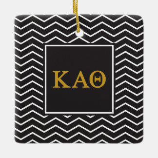Kappa Alpha Theta | Chevron Pattern Ceramic Ornament