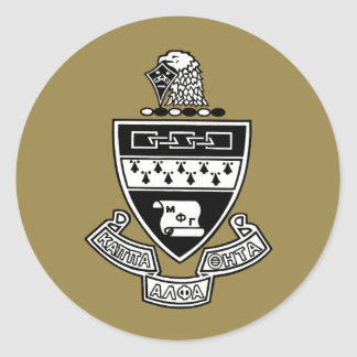 Kappa Alpha Theta Coat of Arms: Black and White Classic Round Sticker