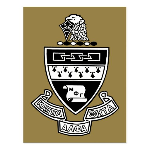Kappa Alpha Theta Coat of Arms: Black and White Post Cards
