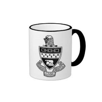 Kappa Alpha Theta Coat of Arms: Black and White Ringer Coffee Mug
