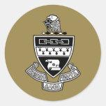 Kappa Alpha Theta Coat of Arms: Black and White Sticker