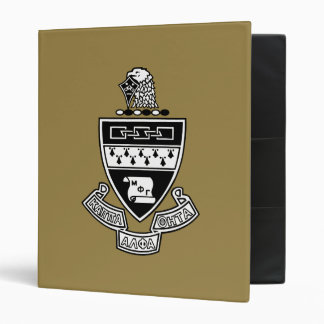Kappa Alpha Theta Coat of Arms: Black and White Vinyl Binder