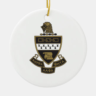 Kappa Alpha Theta Coat of Arms: Color Ceramic Ornament