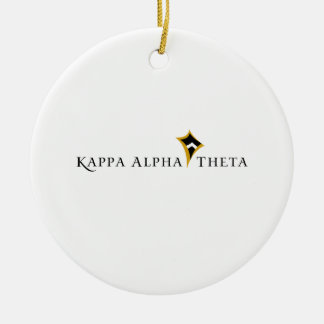 Kappa Alpha Theta Double-Sided Ceramic Round Christmas Ornament