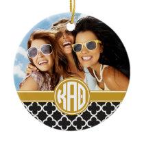 Kappa Alpha Theta | Monogram and Photo Ceramic Ornament
