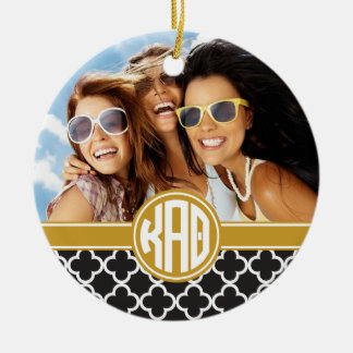 Kappa Alpha Theta | Monogram and Photo Ceramic Ornament