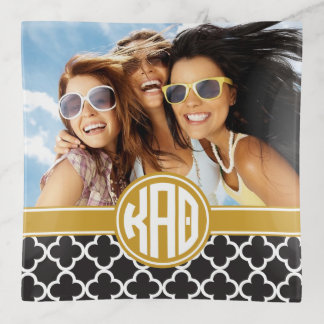 Kappa Alpha Theta | Monogram and Photo Trinket Trays