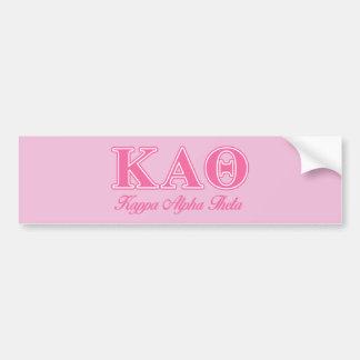 Kappa Alpha Theta Pink Letters Car Bumper Sticker