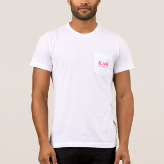 Kappa Alpha Theta Pink Letters T-Shirt